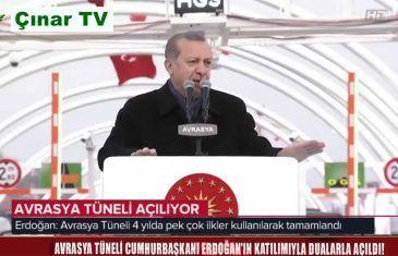 Avrasya Tüneli Cumhurbaşkanı Recep Tayyip Erdoğan Açılış Konuşması