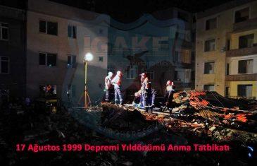 17 Ağustos Depremi Yıl dönümü Anma Programı