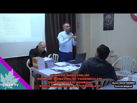 Gümrük Musavirleri Deneme Sınavı Soru ve Analizleri