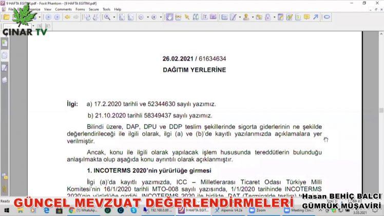 Güncel Mevzuat Değerlendirmeleri /Hasan Behiç Balcı