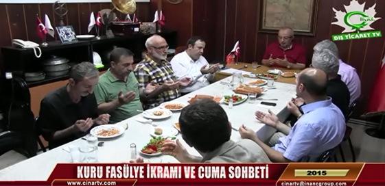 "İNANÇDER "" KURU FASÜLYE İKRAMI VE CUMA SOHBETİ -9 """