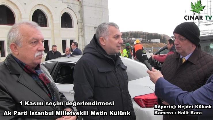 AK Parti İstanbul Milletvekilimiz Metin Külünk ile özel söyleşi